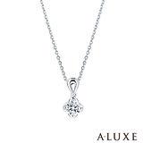 A-LUXE 亞立詩 18K金0.30克拉FVS2幸運草鑽石項鍊