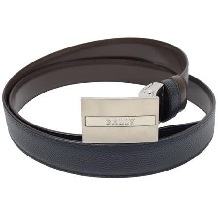 BALLY 時尚配件 都會皮革雙面皮帶.黑/深咖 110CM
