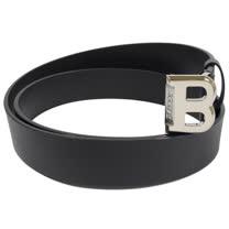 BALLY 時尚配件 經典B LOGO皮革皮帶.黑 105CM