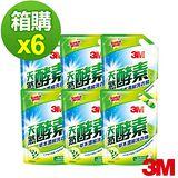 (箱購) 3M 天然酵素草本護纖濃縮洗衣精補充包1600ml*6包