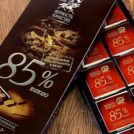 俄羅斯BK 85%黑巧克力100g(三入組) 免運