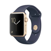 Apple Watch Series 2 智慧型手錶 (42mm) /A 42公釐 金色鋁金屬錶殼搭配午夜藍色運動型錶帶 【MQ152 TA/A】