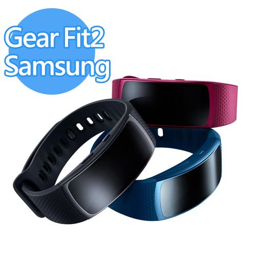 ~限保 品~Samsung 三星 Gear Fit2 SM~R360 智慧手環 ^(藍桃紅