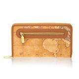 Alviero Martini 義大利地圖包 拉鍊12卡長夾-地圖黃