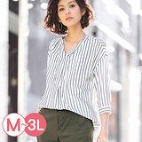 日本Portcros 預購-垂墜感折縫V領襯衫(共三色/M-3L)