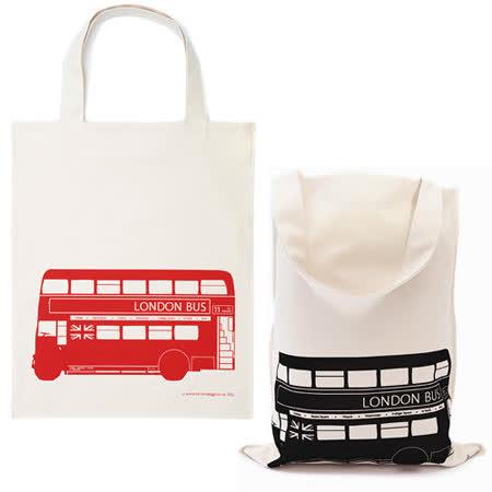【Victoria Eggs 英國蛋】 帆布購物袋 倫敦公車