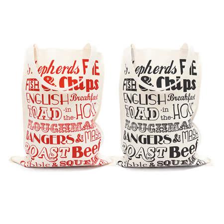 【Victoria Eggs 英國蛋】 帆布購物袋 英格蘭晚餐