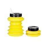 OHYO 伸縮環保水壺 500ml - 黑色黃色
