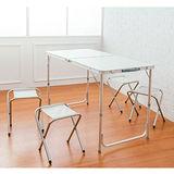 dayneeds 折疊式露營桌椅組 (一桌四椅)