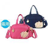 【ABS貝斯貓】Run Cat 手提側背兩用小包(任選一色88-052)