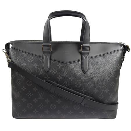 Louis Vuitton LV M40566  Briefcase Explorer 黑經典花紋兩用商務包 現貨