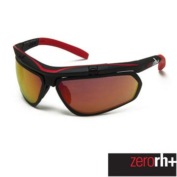 ZeroRH+ 義大利 OLYMPO AIRX 專業運動太陽眼鏡(附兩組鏡片) 黑/紅 RH863 12