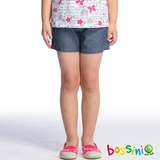 bossini女童-牛仔短褲07深靛藍(品特)