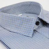 【金安德森】藍黑白細格長袖襯衫