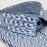 【金安德森】藍黑寬格窄版長袖襯衫
