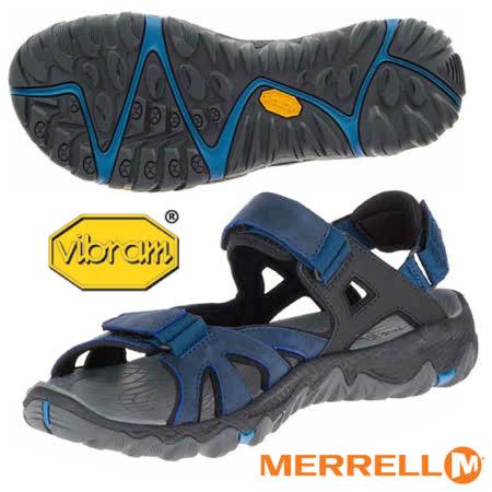【美國 MERRELL】男款 ALL OUT BLAZE SIEVE CONVERT 專業多功能水陸兩用涼鞋/專業Vibram大底.抗菌防臭/戶外拖鞋.輕量_ML37693 深藍