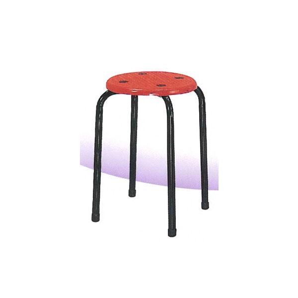 ~百樂購~八分膠椅^(紅色^) KHST334~1