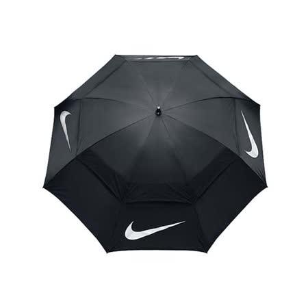 NIKE GOLF 高爾夫傘-晴雨傘 商務傘 雨傘 抗風 遮陽傘 黑銀 F
