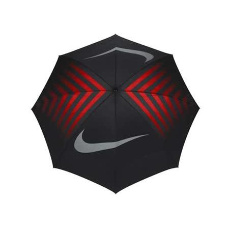 NIKE GOLF 高爾夫傘-晴雨傘 商務傘 雨傘 抗風 遮陽傘 黑紅 F