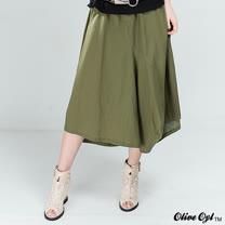 【Olive Oyl奧莉薇】剪裁拼接棉麻長裙(共二色)