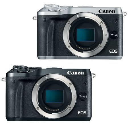Canon EOS M6 單機身(公司貨)-送64G 90MBs記憶卡+相機手腕帶+GIOTTOS火箭吹球+防潮箱+相機包