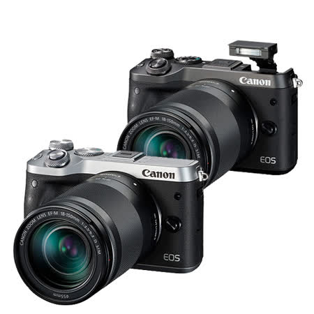 Canon EOS M6 18-150mm F3.5-6.3 IS STM(公司貨)-送64G 90MBs記憶卡+相機手腕帶+GIOTTOS火箭吹球+防潮箱+相機包