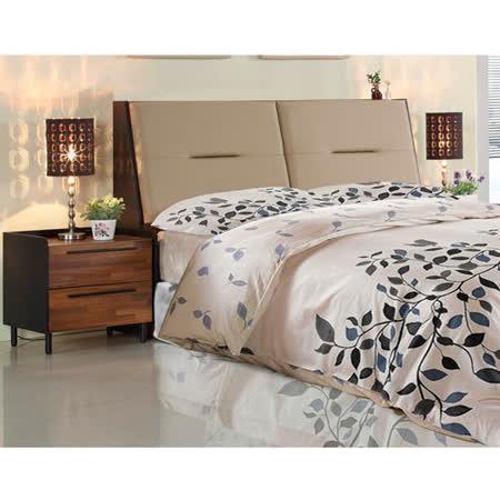 AT HOME-畢卡索5尺雙色被櫥雙人床4件組(床頭箱+床底+床墊+床頭櫃)
