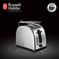 【Russell Hobbs 英國羅素】Legacy 晶亮烤麵包機(晶亮銀)