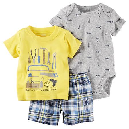 美國 Carter / Carter's 嬰幼兒短褲套裝三件組_工具(CTPBSB003)