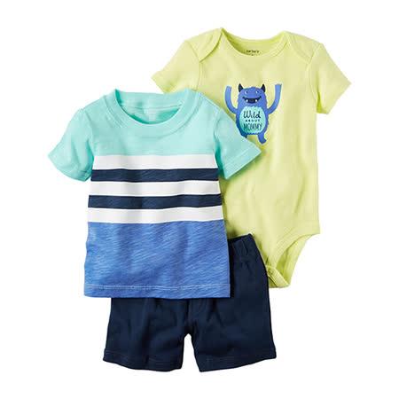 美國 Carter / Carter's 嬰幼兒短褲套裝三件組_清爽夏天(CTPBSB005)