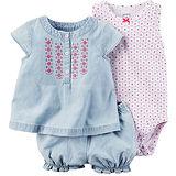 美國 Carter / Carter's 嬰幼兒短褲套裝三件組_牛仔圖騰 (CTPBSG003)