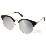 Go-Getter太陽眼鏡 韓版時尚眉圓框款(黑-金) #GS4005 C02