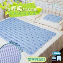 日本三貴SANKI 小雪花3D網冰涼床墊組1床2枕(10.8kg)