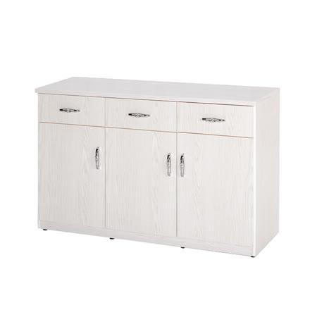 《顛覆設計》潮濕剋星-防水塑鋼緩衝3門3抽餐櫃-寬123深42高81cm(11色可選)