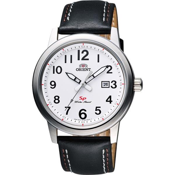 ORIENT SP 神鬼任務石英腕錶-白x黑/41mm FUNF1008W
