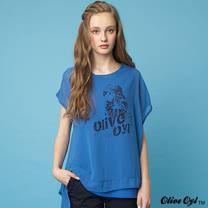 【Olive Oyl奧莉薇】兩件式不規則雪紡上衣(共二色)