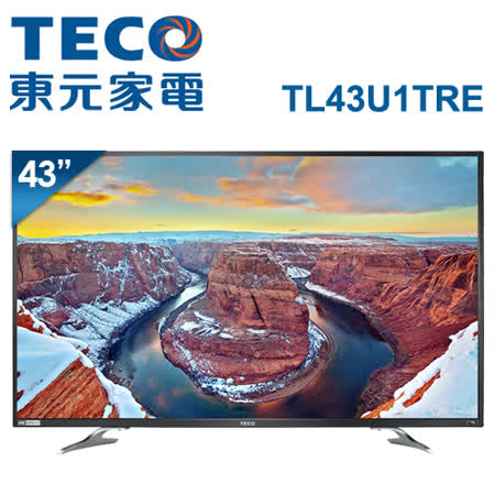 TECO東元 43吋 真4K Smart液晶顯示器+視訊盒(TL43U1TRE)*送尚朋堂14吋立扇