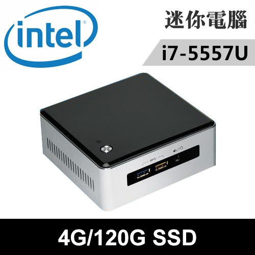 Intel NUC5I7RYH-04120N 特仕版 迷你電腦(i7-5557U/4G/120G SSD)