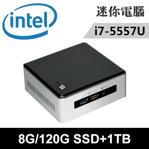 Intel NUC5I7RYH-08121N 特仕版 迷你電腦(i7-5557U/8G/120G SSD+1TB)