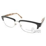BURBERRY眼鏡 經典眉框款(黑-銀) #BU2224 3600