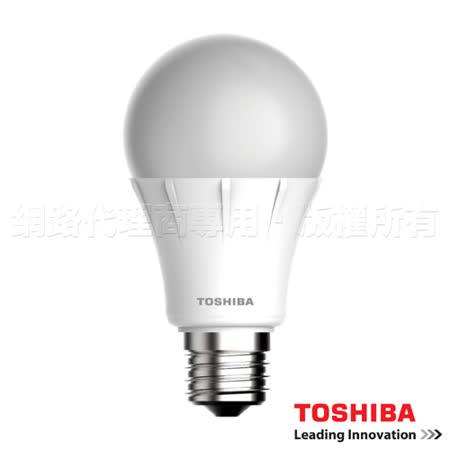 TOSHIBA東芝 12W 全電壓 LED球泡燈 白/黃光 12入