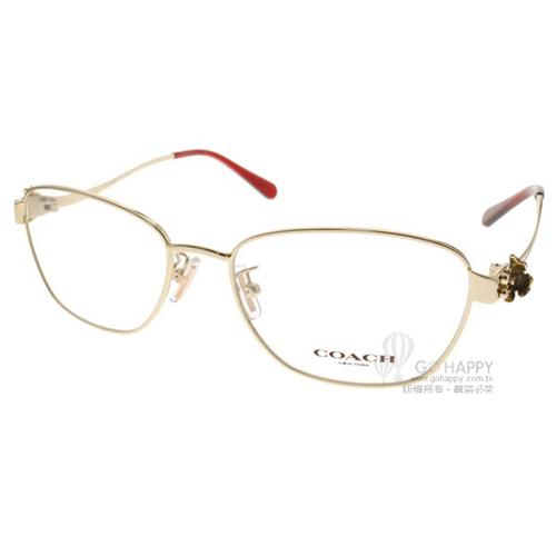 COACH眼鏡 唯美時尚雕花(金) #CO5086 9297
