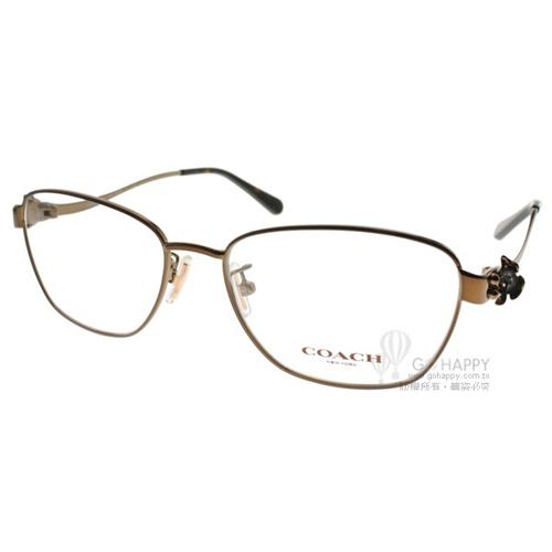 COACH眼鏡 唯美時尚雕花(棕) #CO5086 9298