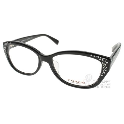 COACH眼鏡 時尚名媛款(黑) #CO6076F 5002