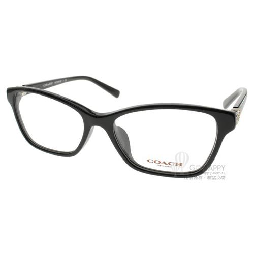 COACH眼鏡 時尚唯美雕花(黑) #CO6091BF 5002