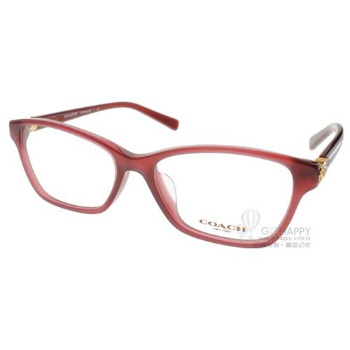 COACH眼鏡 時尚唯美雕花(紫紅) #CO6091BF 5398
