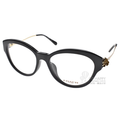 COACH眼鏡 時尚唯美雕花(黑金) #CO6093F 5308
