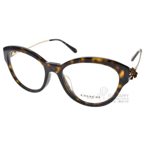 COACH眼鏡 時尚唯美雕花(玳瑁-金) #CO6093F 5417