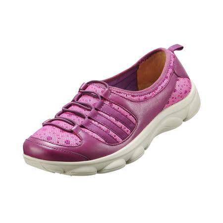 【Kimo德國品牌手工氣墊鞋】經典運動風綁帶彈力輕量休閒鞋-活力紫(K15SF054249)