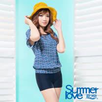 【夏之戀SUMMERLOVE】大女印花比基尼三件式泳衣S17713